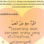 Mencintai Sahabat Nabi, Tanda Keimanan